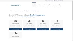 digitaler Kundenordner: Startseite